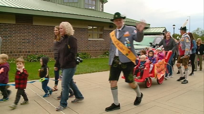 Kids celebrate La Crosse's Oktoberfest with their own parade