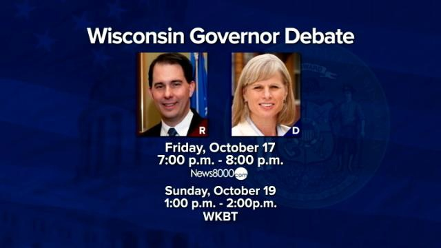 Governor Walker and Mary Burke faced off in second gubernatorial debate