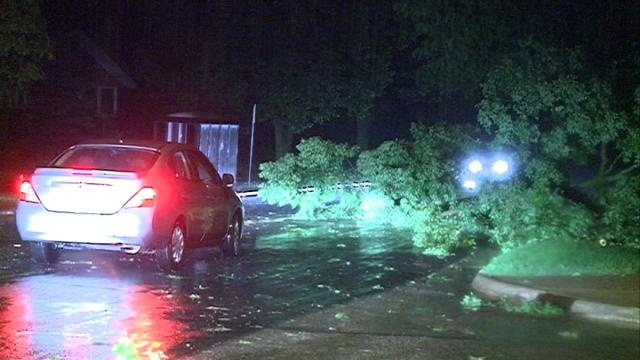 Severe weather causes power outages, downed trees