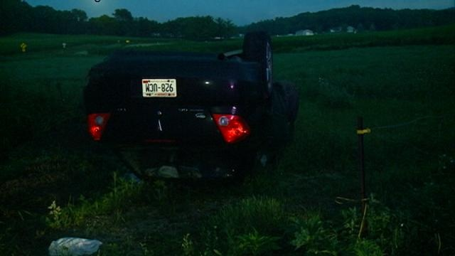 Teenagers survive roll-over crash