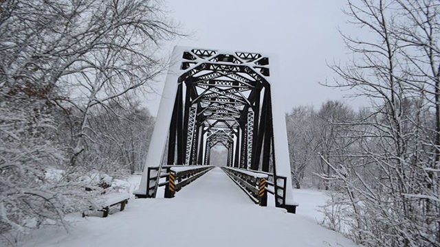 Black River Bridge with snow