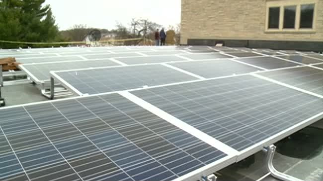 Crucifixion School going green with solar panels