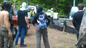 Video shows activists at mining site