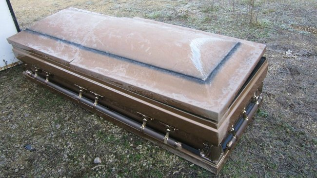Casket found on roadside in Adams County