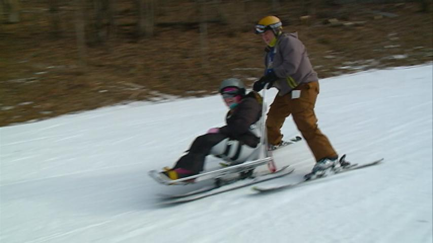 Kids with special needs and physical disabilities got the chance to ski down Mt. La Crosse