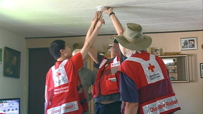 Red Cross volunteers head door-to-door for fire safety
