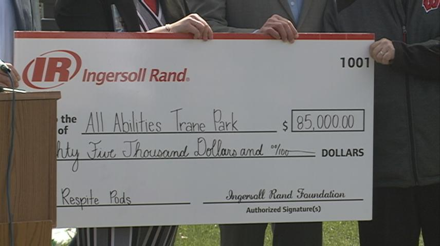 Two big donations to All Abilities Trane Park in La Crosse