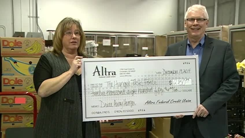 Altra Federal Credit Union donates to Hunger Task Force