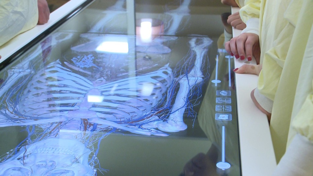 Imaging table helps students gain new perspective on medical education