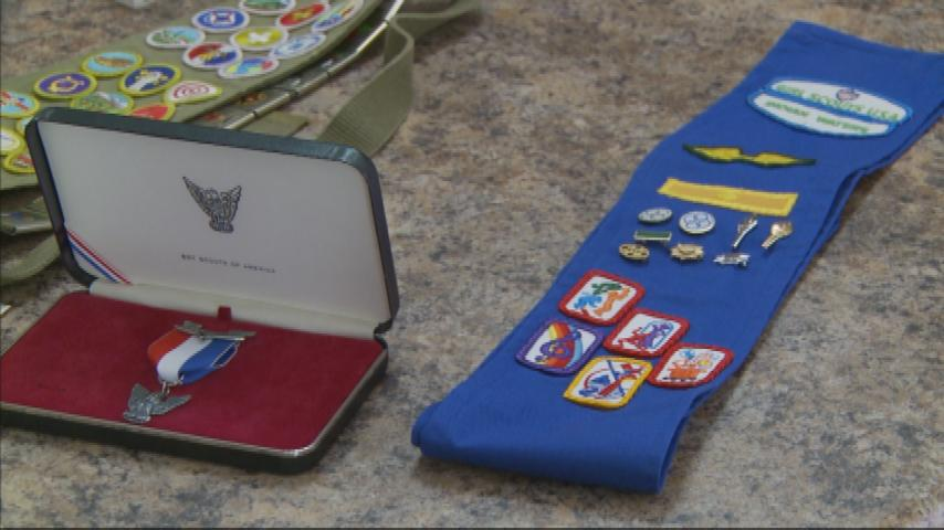 Badge of Honor: Teen going for highest Scouting awards to follow in parents' footsteps