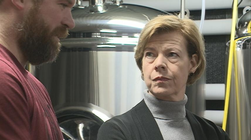 Wisconsin Senator Baldwin tours 608 Brewing, supports Craft Beverage Act