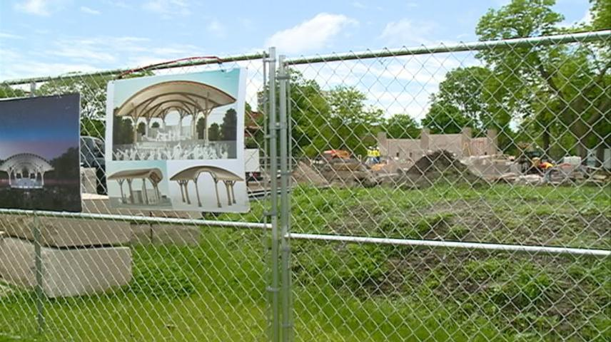 Donation helps band shell fundraising effort come closer to goal.