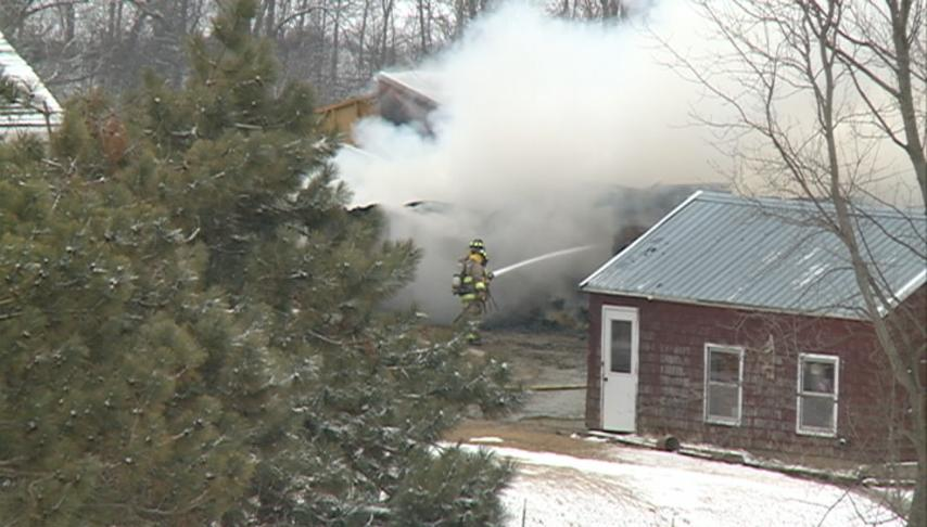 Fire fully engulfs barn with cattle inside