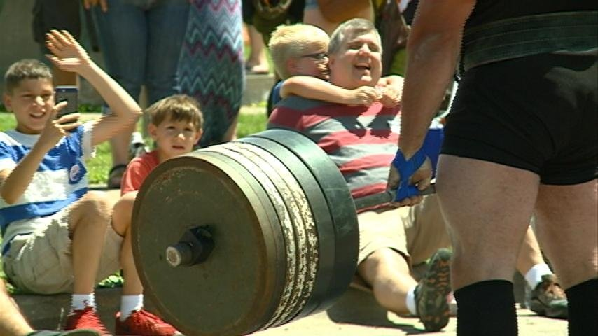 Battle on the Barge pits strongmen against each other