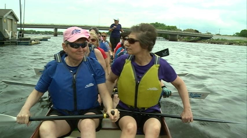 Breast cancer survivors gear up for the Big Blue Dragon Boat Race