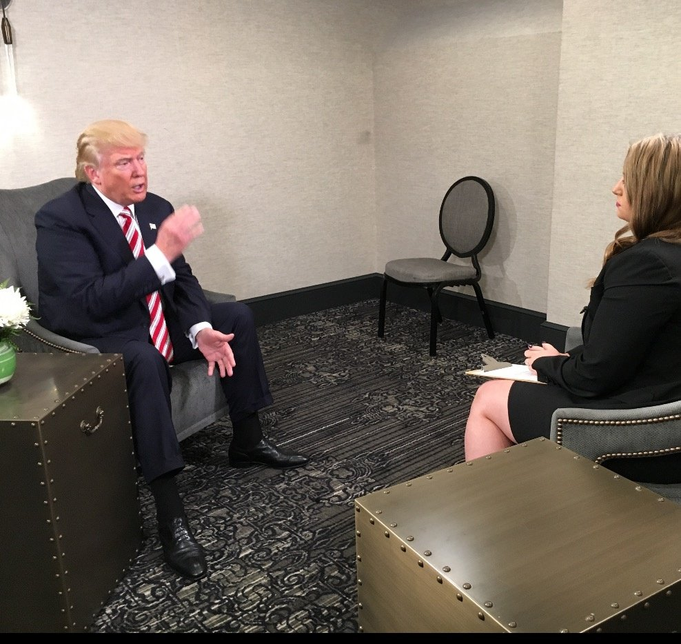 Donald Trump goes one-on-one with News 8