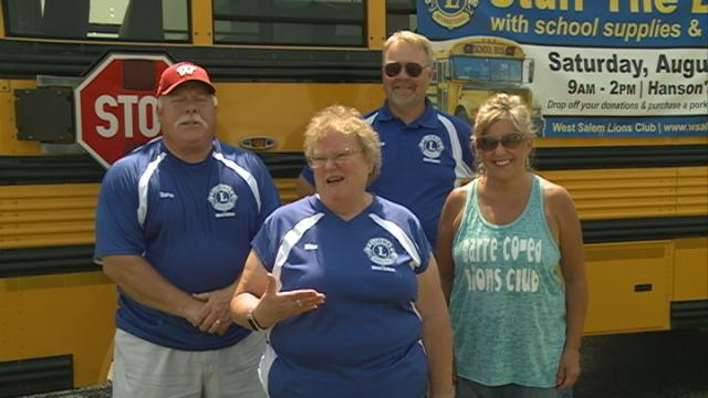 'Stuff the bus' drive collects school supplies for families in need