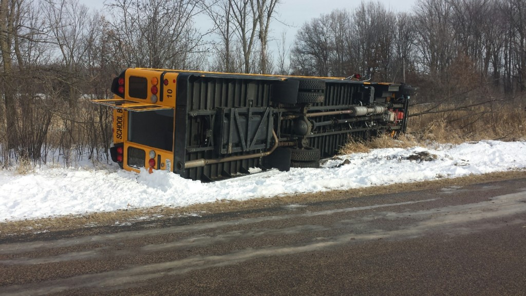 UPDATE: Cause found in New Lisbon bus accident, driver let go