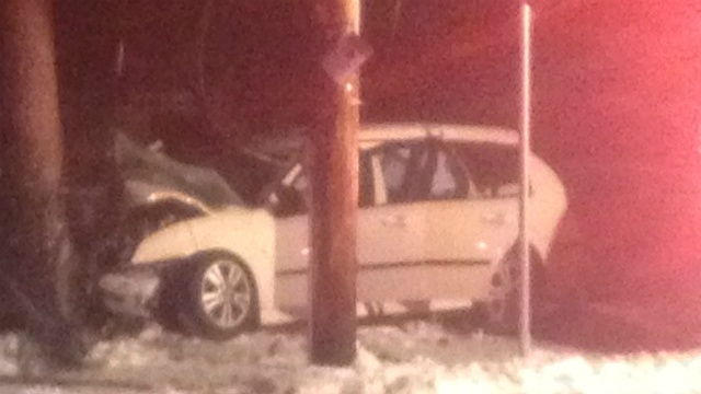 20-year-old impaled by fence post in car crash, officials say