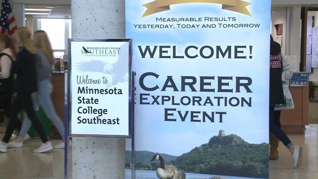Students experience career options at event in Winona