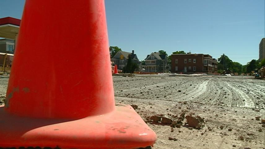 Cass Street roundabout construction moves forward