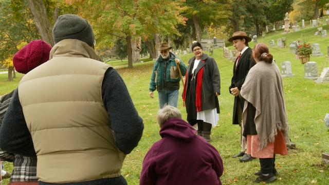 Past of area parks heard during Voices from the Past cemetery walk