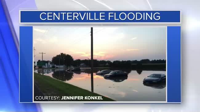 Flood waters rise quickly in Centerville