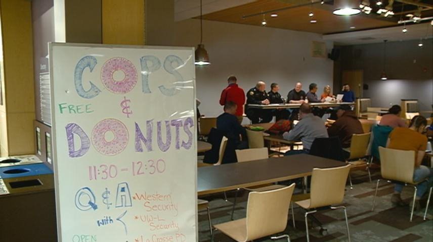 'Cops & Donuts' event aims to improve relationships between officers, students