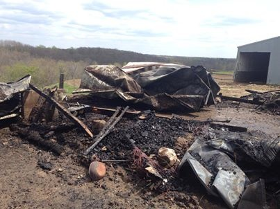 Shed destroyed in La Crosse County fire
