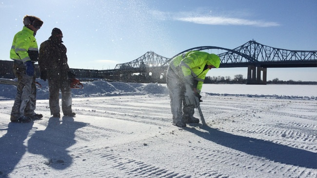 News 8 Eye Piece: La Crosse Polar Plunge ice cutters