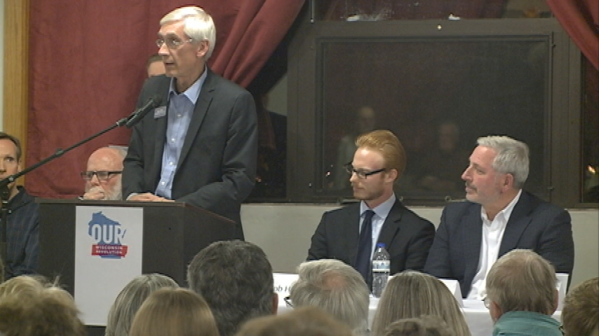 Democratic candidates for Wisconsin governor talk issues at public forum