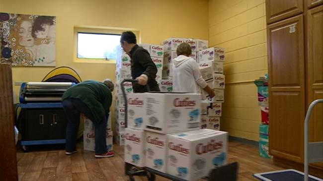 The Parenting Place receives large diaper donation from Rotary Club