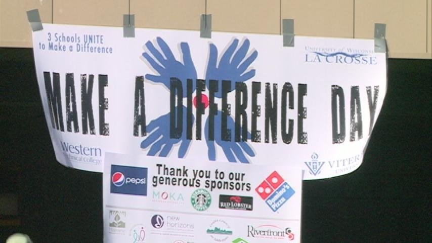 La Crosse's three colleges gather for 'Making a Difference' day