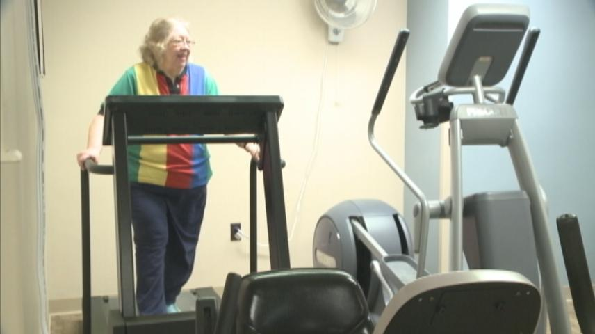 Heart attack survivor praises exercise as life-changing