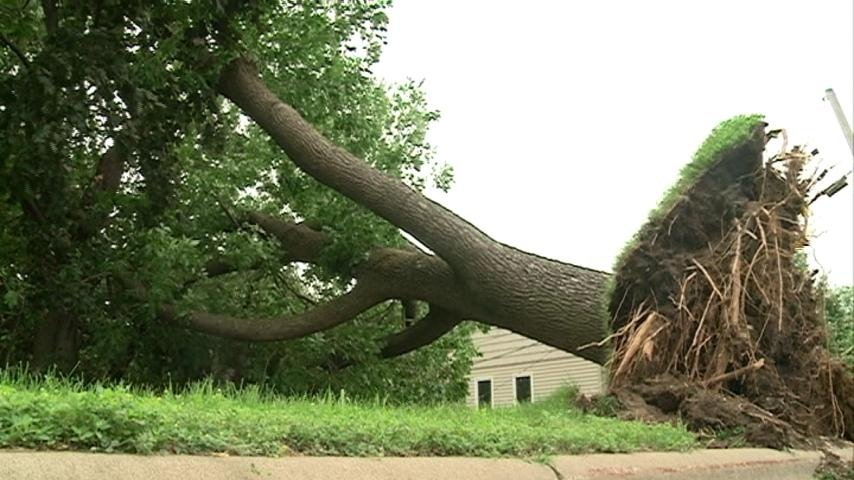 Storm knocks out power, leaves behind damage in north Iowa