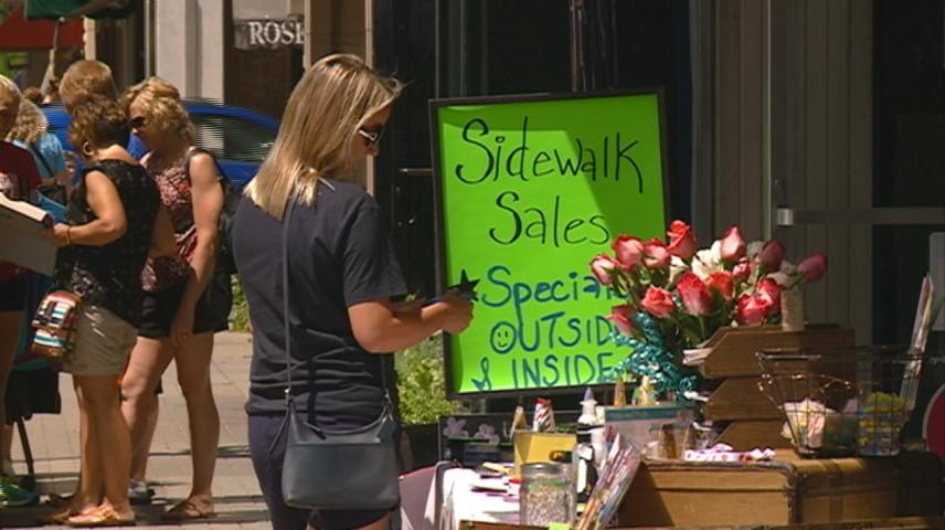 Summer Days Sidewalk Sale offers sales on local goods at downtown businesses