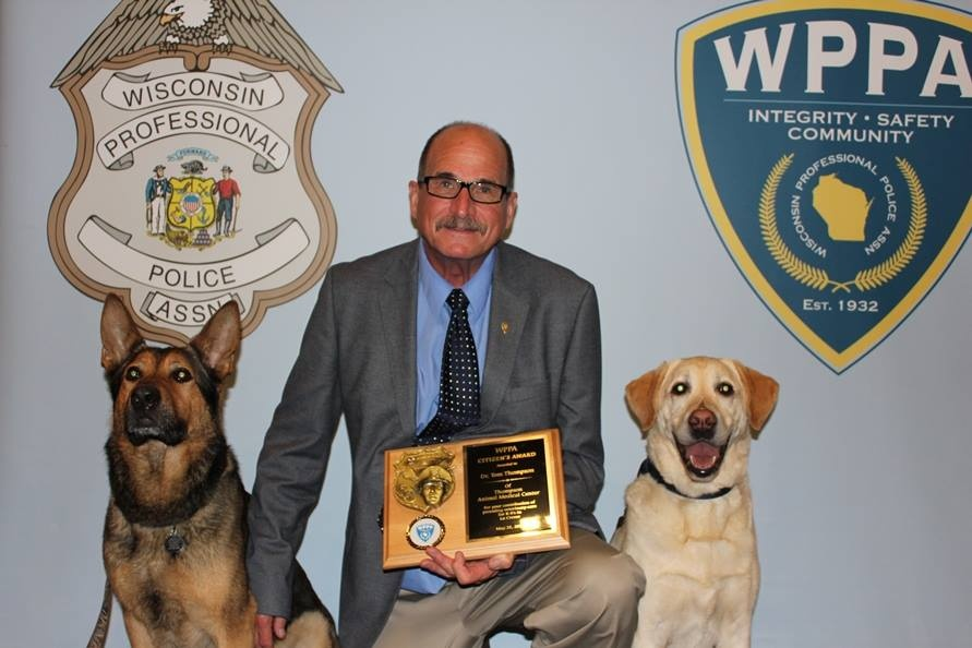 Local veterinarian honored by Wis. Professional Police Association