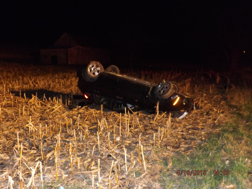 Authorities believe alcohol contributed to rollover crash Saturday