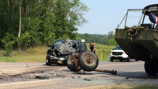 13 injured in head-on crash with Duck, official says