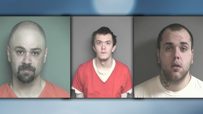 3 men charged with 33 counts of burglary in Eau Claire