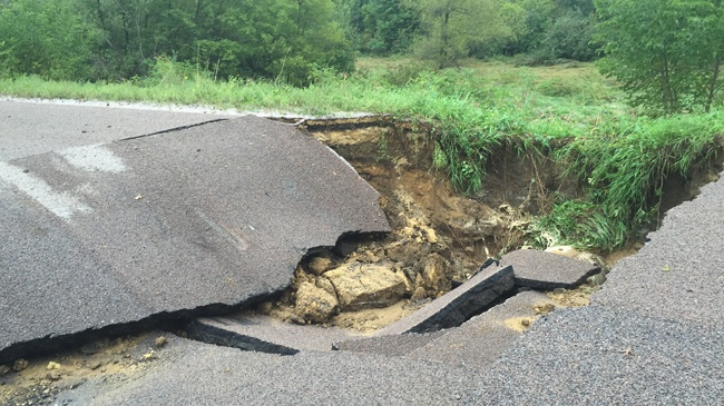 Flooding leads to road closures in several counties