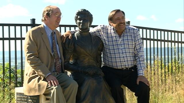 Statue commemorates woman who helped preserve Hixon Forest