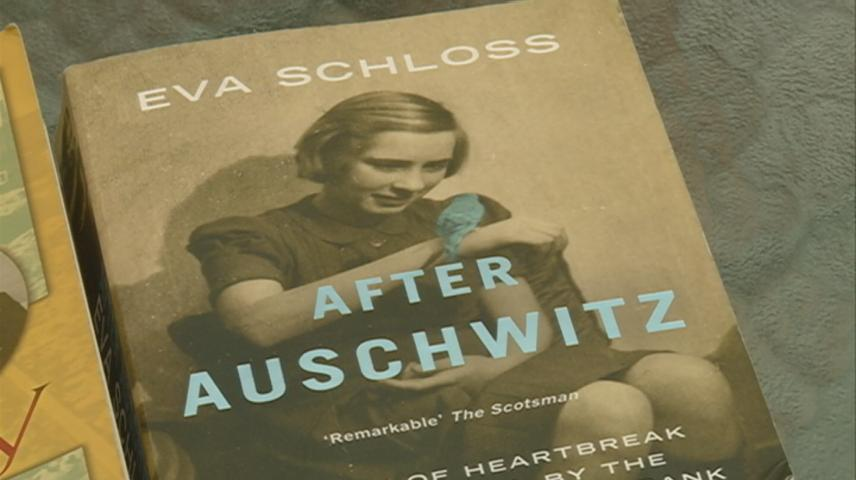 Holocaust survivor Eva Schloss speaks at Viterbo Fine Arts Center