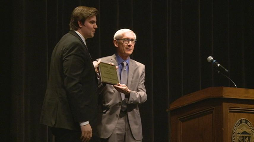Governor Evers honored by UW-La Crosse Student Association