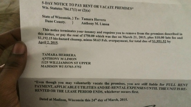 Landlord seeks eviction, money for cleanup where Tony Robinson killed