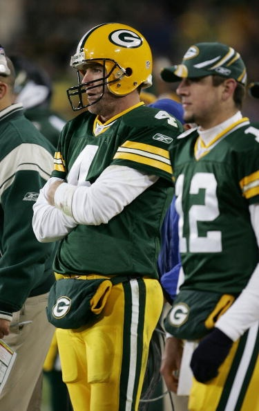 Favre: Rodgers and I 'get along fine'