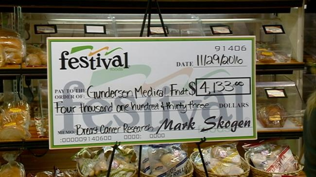 Festival donates to breast cancer research