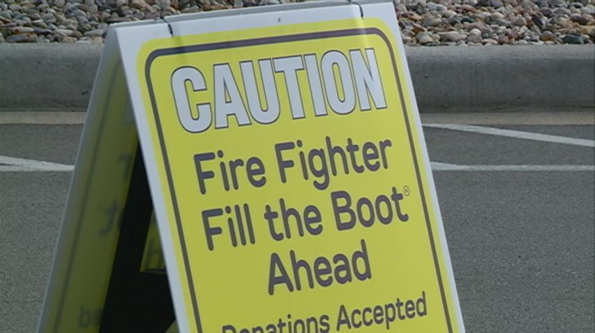 """Holmen firefighters take donations for """"Fill the Boot"""" campaign for muscular dystrophy"""