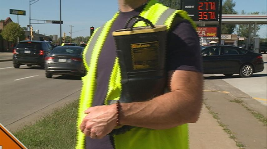 Firefighters collect donations from la Crosse drivers for the 'Fill the Boot' campaign