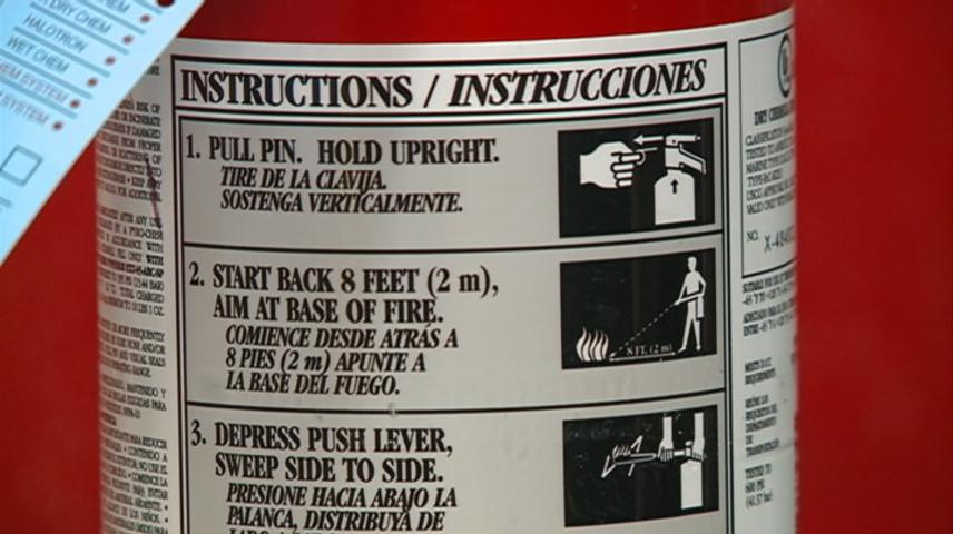 Prepare for the Wisconsin winter by knowing how to use a fire extinguisher